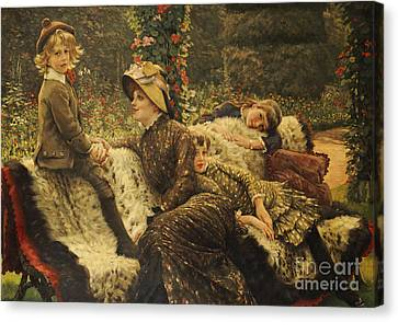 The Garden Bench Canvas Print by Tissot