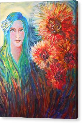 The Garden Flower Canvas Print by Carolyn LeGrand