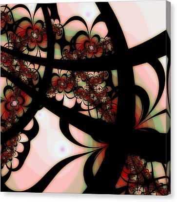 The Garden Gate Canvas Print by Bonnie Bruno