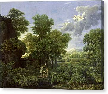 The Garden Of Eden Canvas Print by Nicolas Poussin