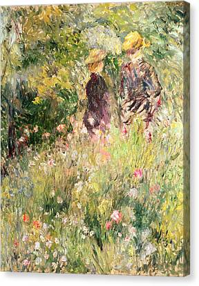 The Garden Of Roses Canvas Print by Pierre Auguste Renoir