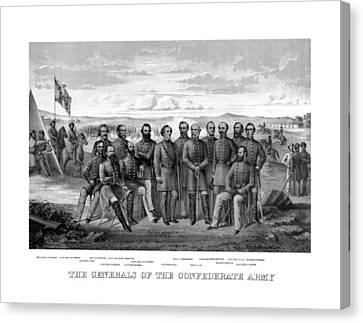 The Generals Of The Confederate Army Canvas Print by War Is Hell Store