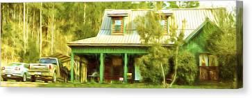 The Getaway - Digital Painting Canvas Print by Barry Jones