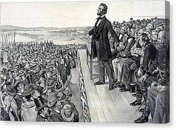 The Gettysburg Address Canvas Print by American School