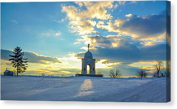 The Gettysburg Memorial At Sunset Canvas Print by Bill Cannon