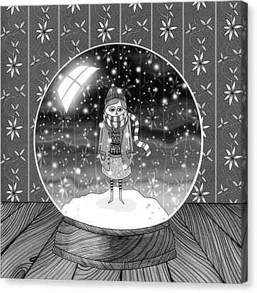 The Girl In The Snow Globe  Canvas Print by Andrew Hitchen