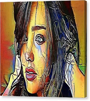 The Girl Tears- My Www Vikinek-art.com Canvas Print by Viktor Lebeda