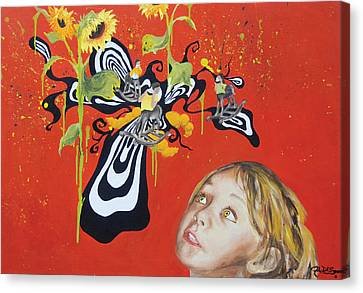 The Girl With Kaleidoscope Eyes Canvas Print by Jacqueline DelBrocco