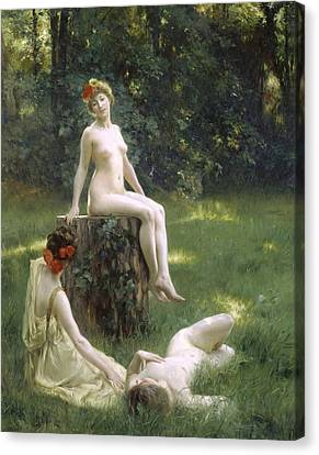 The Glade Canvas Print by Julius Leblanc Stewart