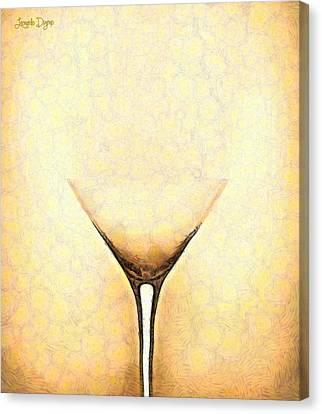 The Glass - Da Canvas Print by Leonardo Digenio