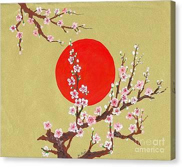 The Glory Morning Sakura Canvas Print by Renu Martin