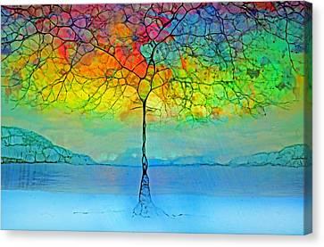 The Glow Tree Canvas Print by Tara Turner
