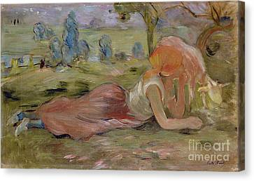 The Goatherd Canvas Print by Berthe Morisot