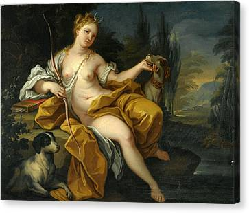The Goddess Diana Canvas Print by Roman School