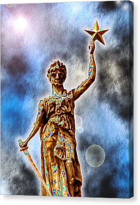 The Goddess Of Liberty - Texas State Capitol Canvas Print by Wendy J St Christopher