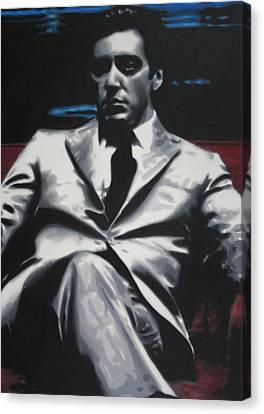 The Godfather 2013 Canvas Print by Luis Ludzska