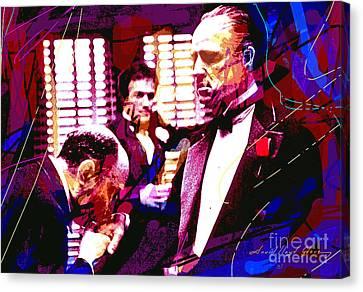 The Godfather Kiss Canvas Print by David Lloyd Glover
