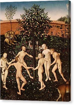 The Golden Age Canvas Print by Lucas Cranach