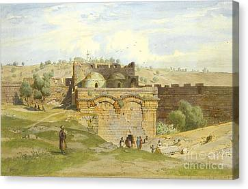 The Golden Gate Jerusalem Canvas Print by Celestial Images