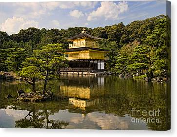 The Golden Pagoda In Kyoto Japan Canvas Print by David Smith