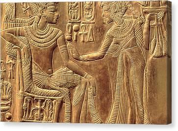The Golden Shrine Of Tutankhamun Canvas Print by Egyptian Dynasty