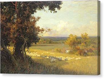 The Golden Valley Canvas Print by Sir Alfred East