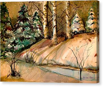 The Golden Woods Canvas Print by Mindy Newman
