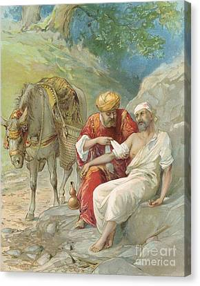 The Good Samaritan Canvas Print by Ambrose Dudley
