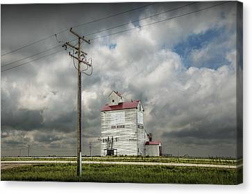 The Grain Elevator In Dog River Canvas Print by Randall Nyhof