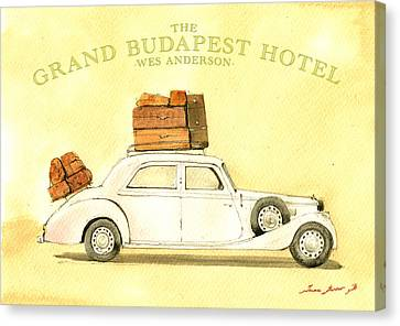 The Grand Budapest Hotel Watercolor Painting Canvas Print by Juan  Bosco