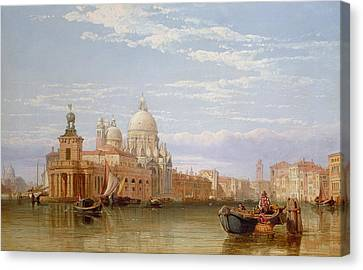 The Grand Canal - Venice Canvas Print by George Clarkson Stanfield