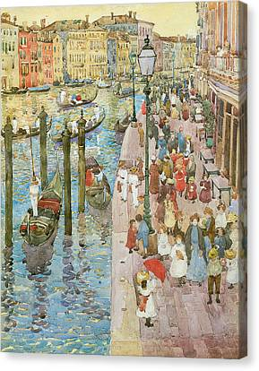 The Grand Canal Venice Canvas Print by Maurice Prendergast