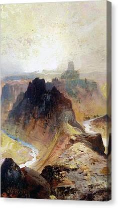 The Grand Canyo Canvas Print by Thomas Moran
