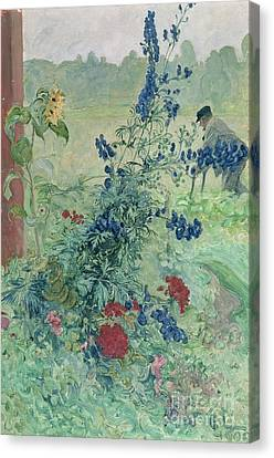 The Grandfather Canvas Print by Carl Larsson