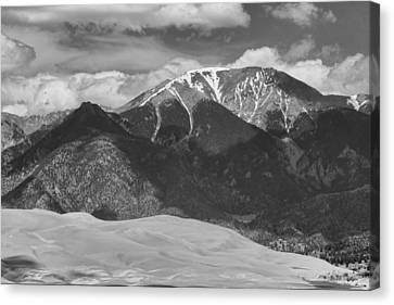 The Great Colorado Sand Dunes  125 Black And White Canvas Print by James BO  Insogna