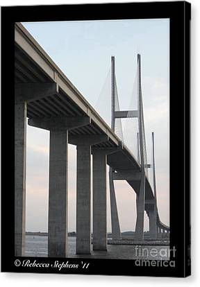 The Great Connection Sidney Lanier Bridge Canvas Print by Rebecca  Stephens