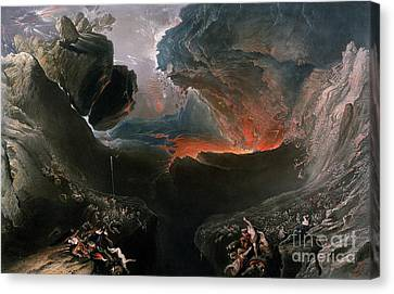 The Great Day Of His Wrath Canvas Print by Charles Mottram