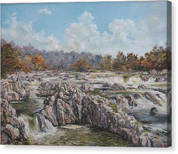 The Great Falls Canvas Print by Tigran Ghulyan