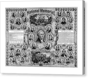 The Great National Memorial Canvas Print by War Is Hell Store