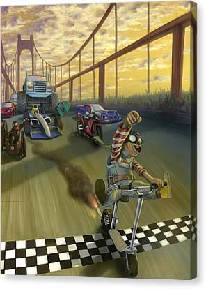 The Great Race Canvas Print by Nicholas Bockelman