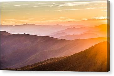 The Great Smoky Mountains Canvas Print by Shelby Young