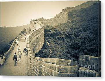 The Great Wall Of China Canvas Print by Heiko Koehrer-Wagner