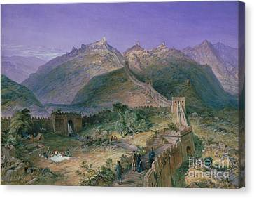 The Great Wall Of China Canvas Print by William Simpson