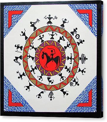 The Warrior Canvas Print by Aditi Maaheshwar