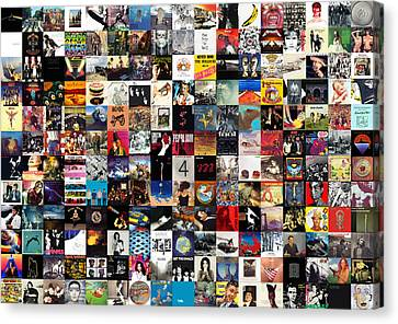 The Greatest Album Covers Of All Time Canvas Print by Taylan Soyturk