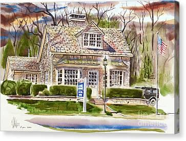 The Greystone Inn In Brigadoon Canvas Print by Kip DeVore