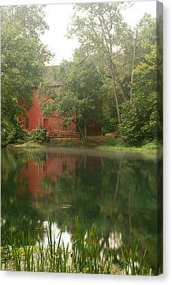 The Grist Mill At Alley Springs Take 3 Canvas Print by Bj Hodges
