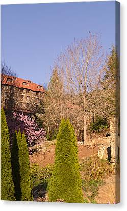 The Grove Park Inn On A Spring Evening Canvas Print by MM Anderson