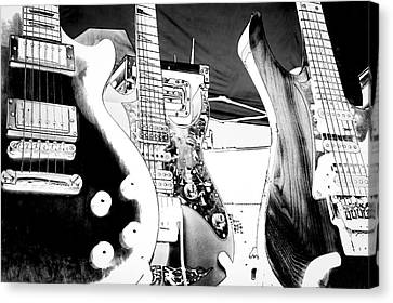 The Guitars Canvas Print by David Patterson