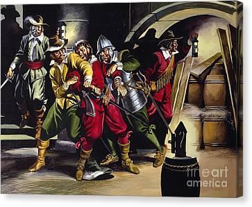 The Gunpowder Plot Canvas Print by Ron Embleton